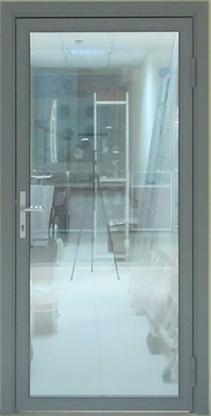 Холодные внутренние алюминиевые двери