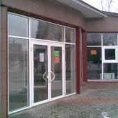 Дверь для зимы наружная алюминиевая