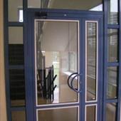 Полуторные алюминиевые двери