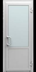 Входная ПВХ дверь со стеклом и стеклопакетом